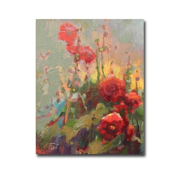 Hannah's Cherry Bomb by Beth A. Forst Gallery Wrapped Canvas Giclee Art (20 in x 16 in)