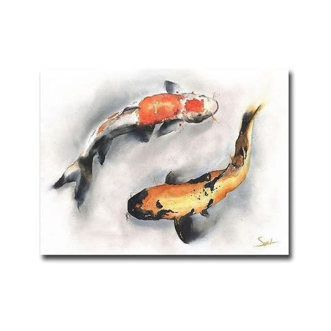 Koi by Eric Sweet Gallery Wrapped Canvas Giclee Art (24 in x 32 in)