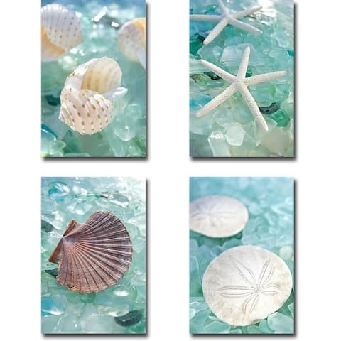 Crystal Harbor 6, 7, 8, & 9 by Alan Blaustein 4-pc Gallery Wrapped Canvas Giclee Art Set (18 in x 12 in Each Canvas in Set)