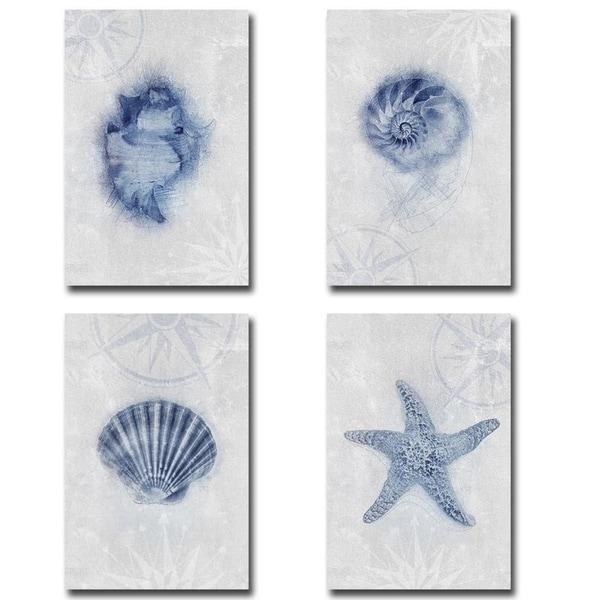 Ocean Memories 1, 2, 3, & 4 by Louis Duncan-He 4-pc Gallery Wrapped Canvas Giclee Art Set (18 in x 12 in Each Canvas in Set). Opens flyout.