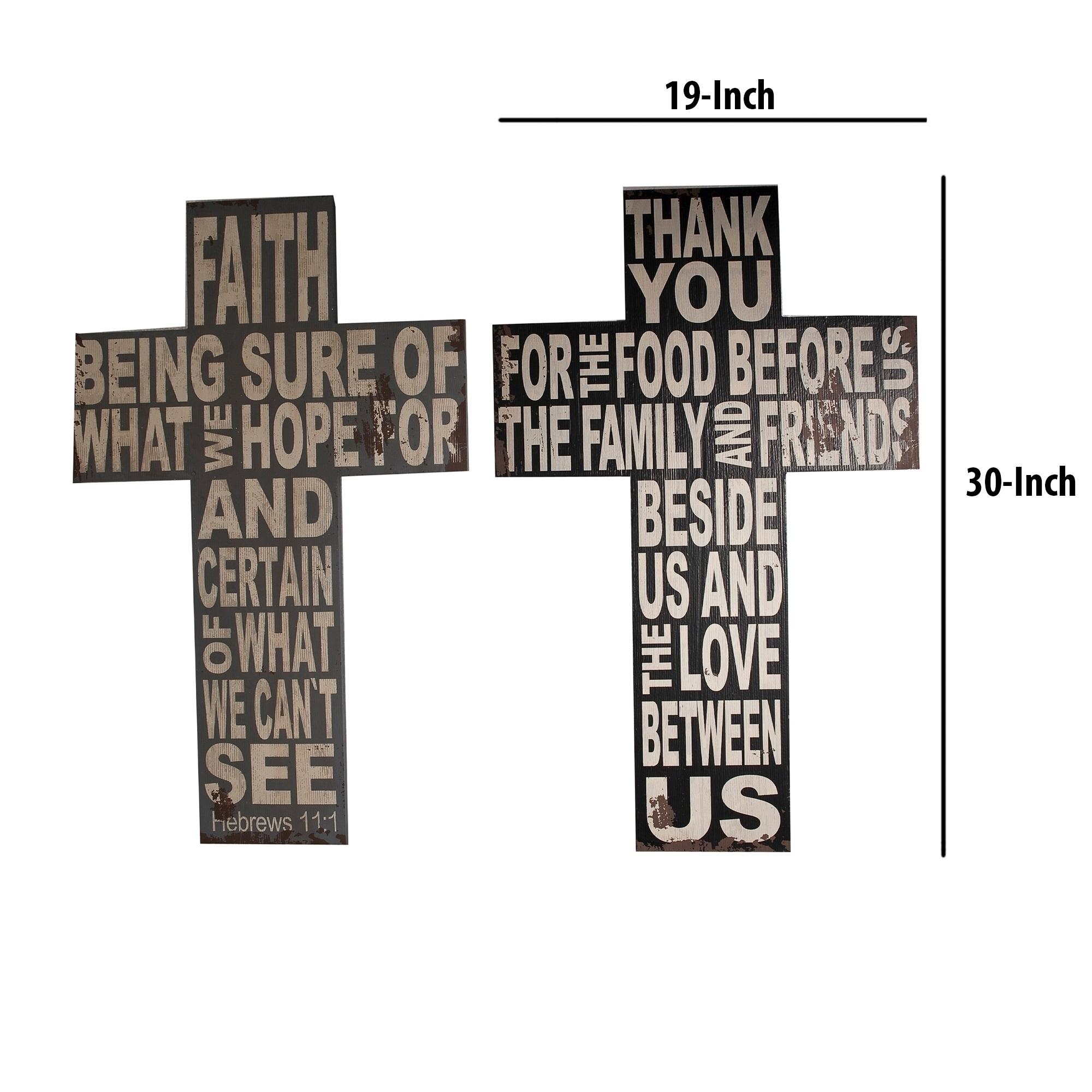 Wood Faith Cross Wall Decor With