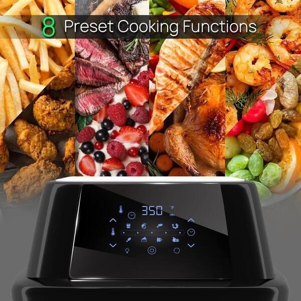 Shop Nutrichef Rotisserie 1800w High Power Air Fryer Plus Food