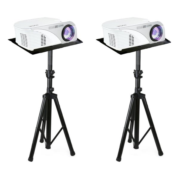 Set of (2) Pyle Pro DJ Laptop Stand, Multi-function, Tripod Projector Stand, Adjustable 30 to 55 Inch