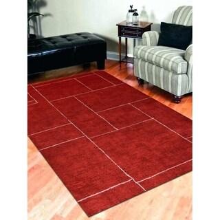 Geometric Handmade Transitional Carpet Gabbeh Indian Oriental Area Rug