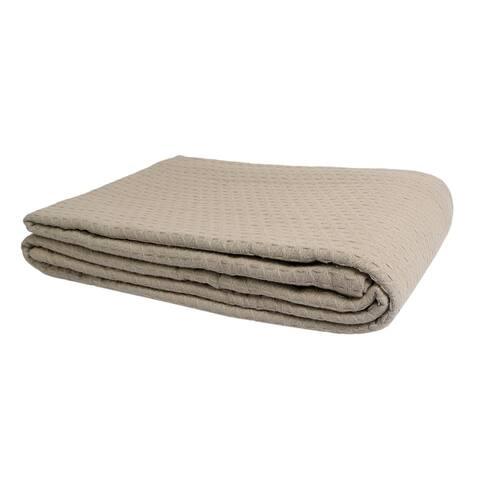 Kameoka Cotton Blanket with Cotton Velvet Pillow Cover (Set of 3 Pcs)