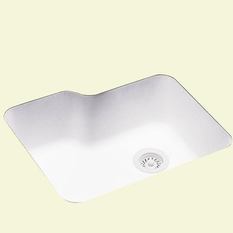 Swan 25-in D x 21.25-in W x 8.75-in H Solid Surface Undermount Single Bowl Kitchen Sink with 0-Hole
