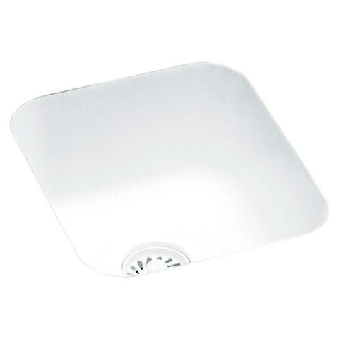 Swan 13.375-in D x 15.375-in W x 7-in H Solid Surface Undermount Bar Sink with 0-Hole