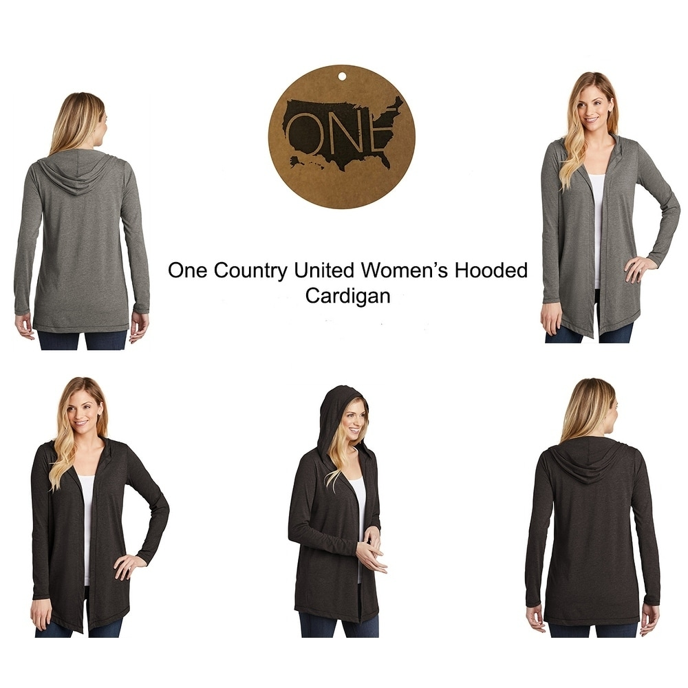 One Country United Womens Hooded Cardigan by  Best