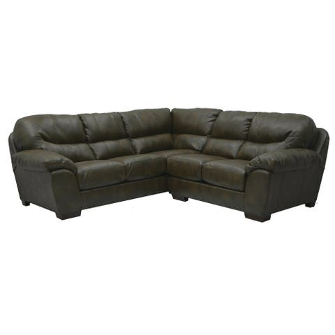 Beckner Bonded Leather Sectional Sofa