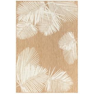 """Liora Manne Carmel Palm Indoor/Outdoor Rug Sand 39""""X59"""""""
