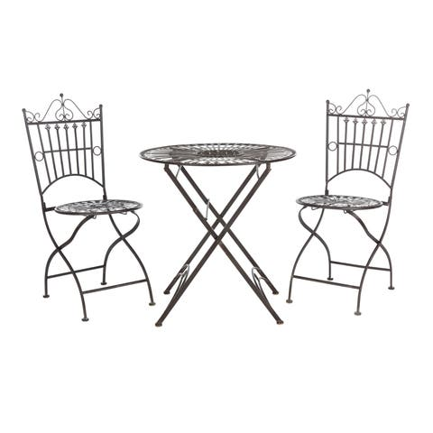 Safavieh Outdoor Living Belen Bistro Set, One Table And Two Chairs
