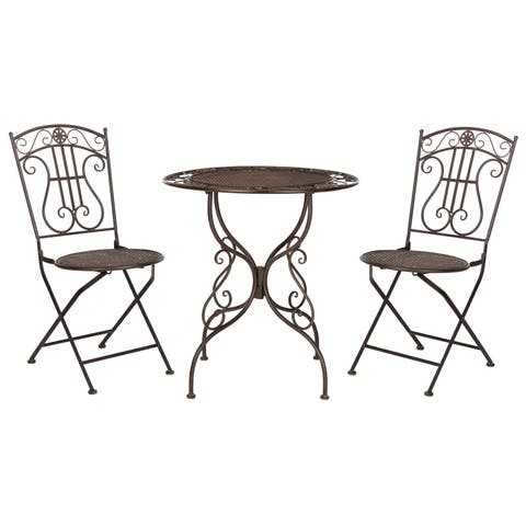 Safavieh Outdoor Living Semly 3Pcs Bistro Setting