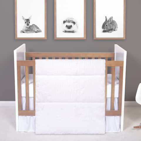 Simply White 3 Piece Crib Bedding Set