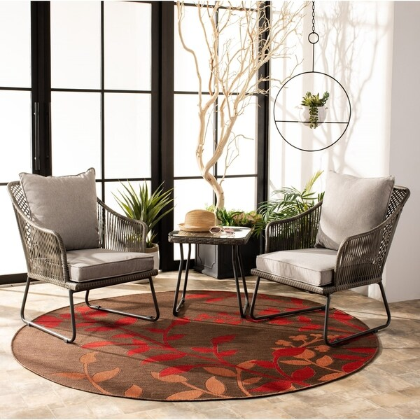 Safavieh Outdoor Living Jensen 3Pc Lounge Set