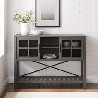 The Gray Barn 48-inch Glass Door Buffet Sideboard