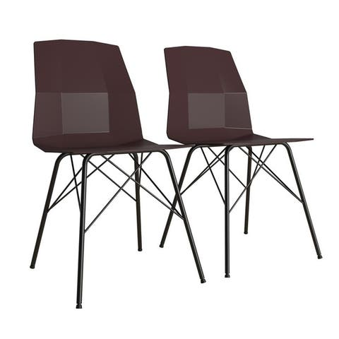 CosmoLiving by Cosmopolitan Riley Molded Dining Chair (Set of 2)