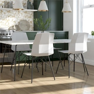 Link to CosmoLiving by Cosmopolitan Riley Molded Dining Chair (Set of 2) Similar Items in Dining Room & Bar Furniture