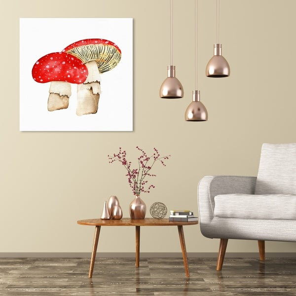 Wynwood Studio 'Mushrooms ' Food and Cuisine Wall Art Canvas Print - Red, White