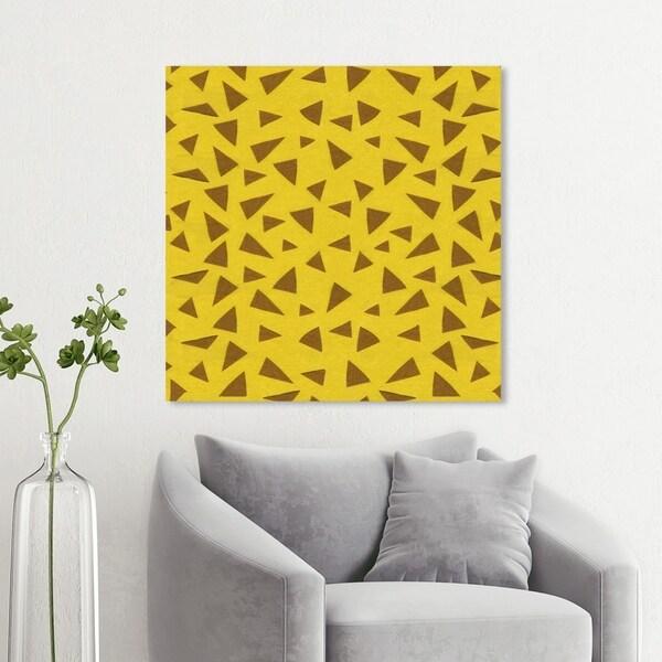 Wynwood Studio 'Giraffe Pattern' Animals Wall Art Canvas Print - Yellow, Brown