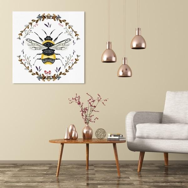 Wynwood Studio 'Bumblebee' Animals Wall Art Canvas Print - Gold, White
