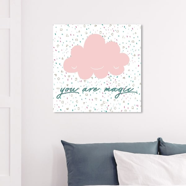 Wynwood Studio 'You Are Magic' Typography and Quotes Wall Art Canvas Print - Pink, Green