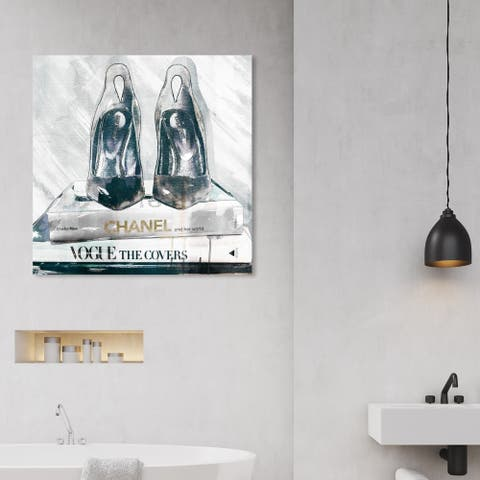 Wynwood Studio 'Marble Night Out' Fashion and Glam Wall Art Canvas Print - Black, Gray