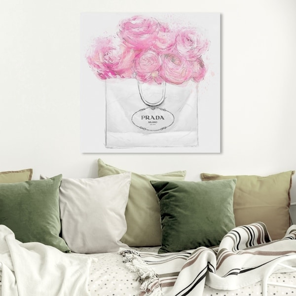 Wynwood Studio 'Shopping for Peonies Light' Fashion and Glam Wall Art Canvas Print - Pink, White