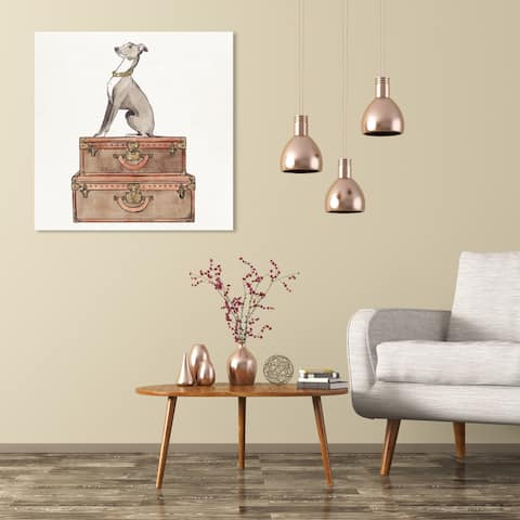 Wynwood Studio 'Luxury Greyhound' Fashion and Glam Wall Art Canvas Print - Brown, White