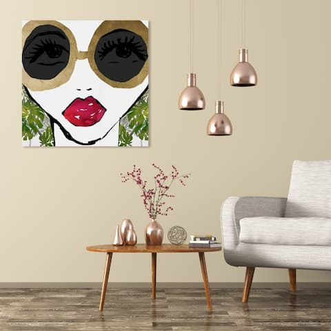 Wynwood Studio 'Ready For The Jungle' Fashion and Glam Wall Art Canvas Print - Gold, Green