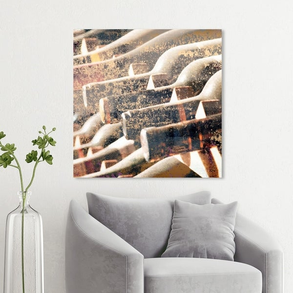 Wynwood Studio 'In The Cellar Square' Drinks and Spirits Wall Art Canvas Print - White, Bronze