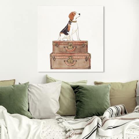 Wynwood Studio 'Luxury Beagle' Animals Wall Art Canvas Print - Brown, White