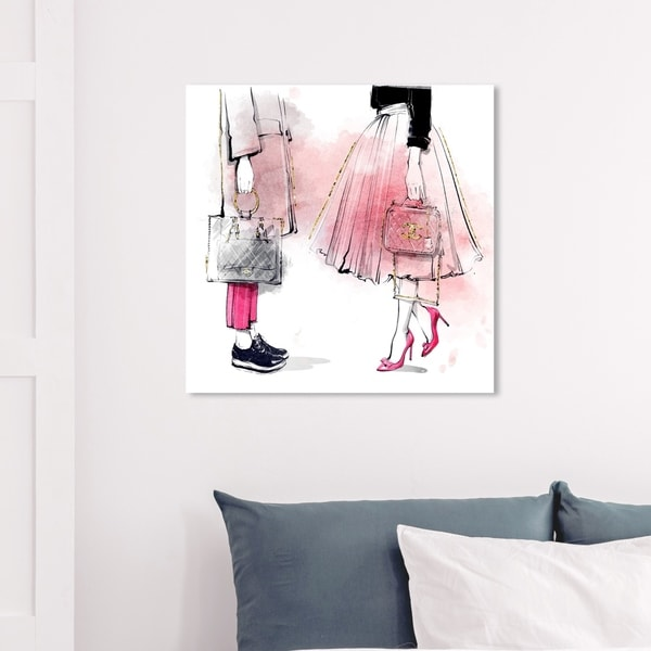 Wynwood Studio 'Coincident or Not' Fashion and Glam Wall Art Canvas Print - Pink, White
