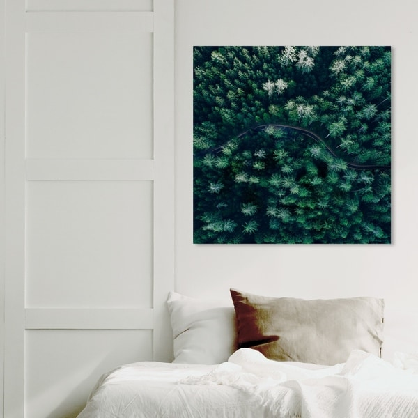 Wynwood Studio 'Breathe in The Forest Square' Nature and Landscape Wall Art Canvas Print - Green, White