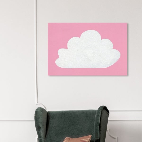 Wynwood Studio 'Cloud' Nature and Landscape Wall Art Canvas Print - Pink, White