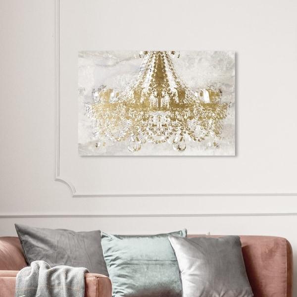 Wynwood Studio 'Rocky Gold Dramatic Entrance' Fashion and Glam Wall Art Canvas Print - Gold, White