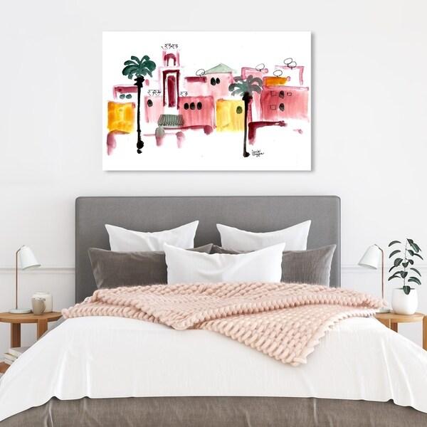 Wynwood Studio 'Denise Elnajjar - Marrakech' World and Countries Wall Art Canvas Print - Red, White