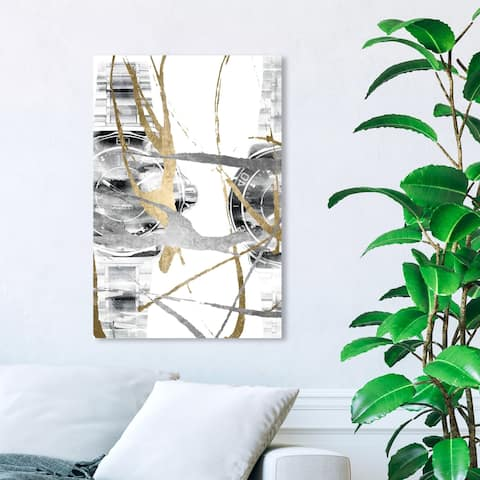 Wynwood Studio 'Chronos II' Fashion and Glam Wall Art Canvas Print - Gold, Gray