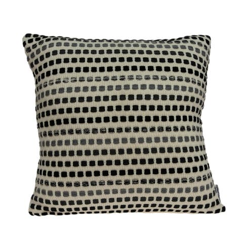 Parkland Collection Zanti Transitional Tan Pillow Cover with Poly Insert