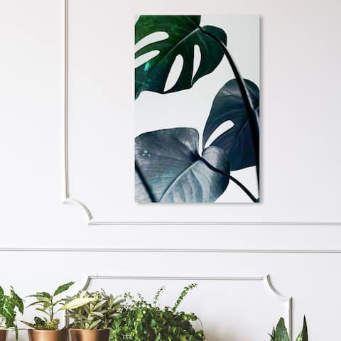Wynwood Studio 'Leaves and Leaves' Floral and Botanical Wall Art Canvas Print - Green, White