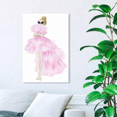 Wynwood Studio 'Pink Tutu Dress' Fashion and Glam Wall Art Canvas Print - Pink, White