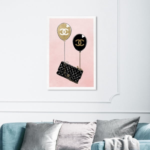 Wynwood Studio 'Balloon Purse' Fashion and Glam Wall Art Canvas Print - Pink, Black