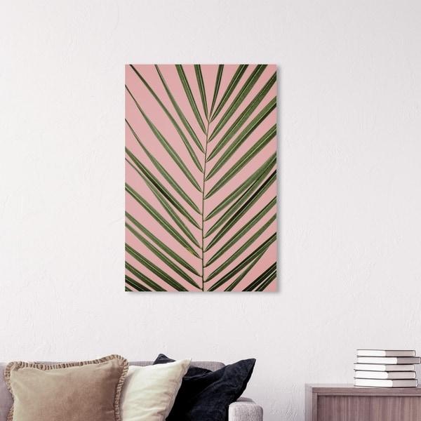 Wynwood Studio 'Palm Life' Floral and Botanical Wall Art Canvas Print - Green, Pink