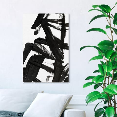 Wynwood Studio 'Mindful Always' Abstract Wall Art Canvas Print - Black, White