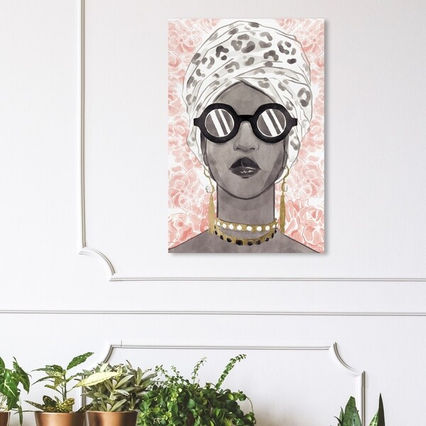 Wynwood Studio 'Spots and Shades' Fashion and Glam Wall Art Canvas Print - Black, Pink