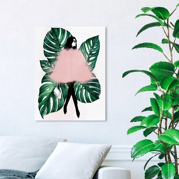 Wynwood Studio 'Among the Leaves' Fashion and Glam Wall Art Canvas Print - Green, Pink