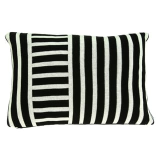 Link to Parkland Collection Essex Transitional Black Pillow Cover With Poly Insert Similar Items in Pillows