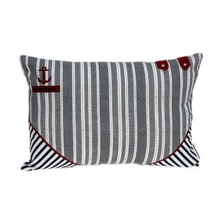 Link to Parkland Collection Oceana Nautical Blue Pillow Cover With Poly Insert Similar Items in Pillows