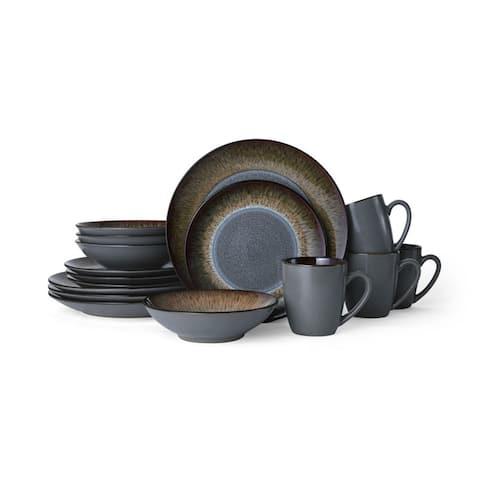 Pfaltzgraff Monroe Gray 16 Piece Dinnerware Set (Service for 4)