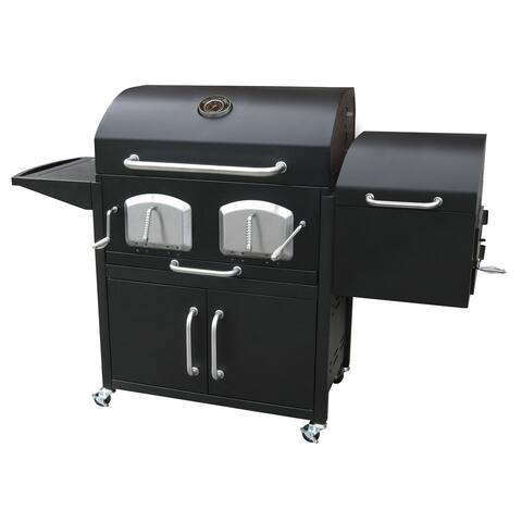 Landmann Bravo Premium Charcoal Grill With Offset Smoker