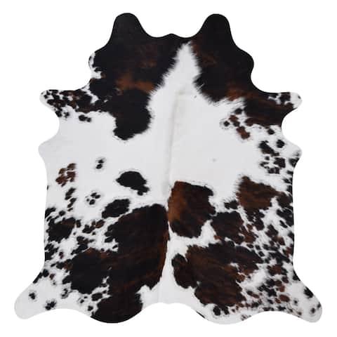 Carbon Loft Hermansen Real Cowhide Salt and Pepper Area Rug - 6' x 7'